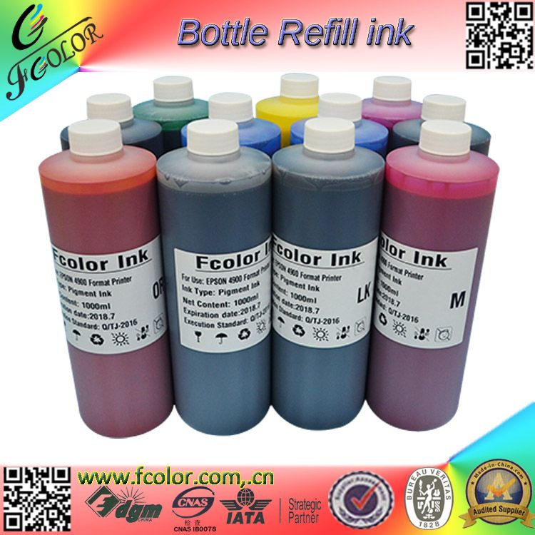 Free shipping Printer refill Pigment ink for Pro 4900 Pro 4910 ink Refill Bottle  500ML* 11 color