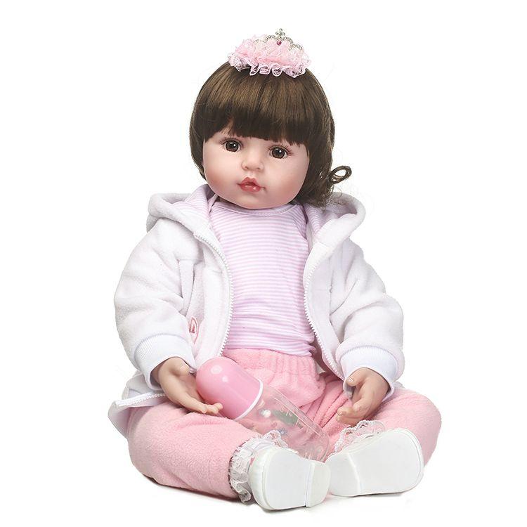 55 cm Silikon Reborn Baby Puppe Spielzeug Simulation Vinyl Prinzessin Puppen Mädchen Geburtstagsgeschenk Spielhaus Schlafengehen Spielzeug Sammlung Puppen
