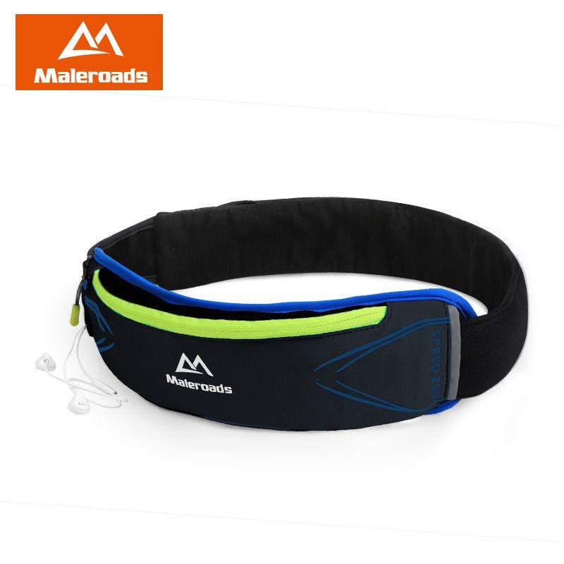 Laufband maleroads gürteltasche für männer frauen jogging Fitness Taille tasche Schwarz Taille gürtel für Läufer Outdoor Sport Workout