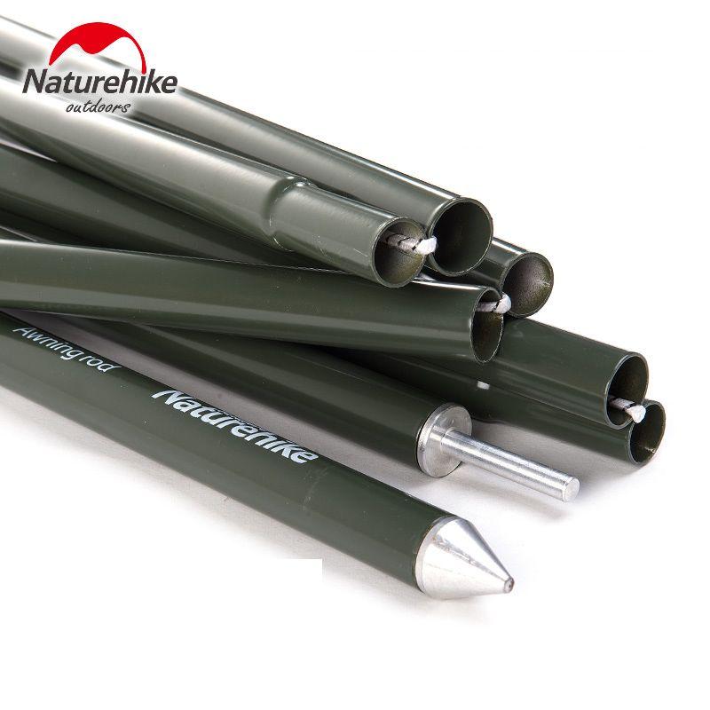 NatureHike Professional Ultra light 6063 Aviation Aluminum Alloy Painted Outdoor Camping Awning Pergola Tent poles 2Pcs Per Sets