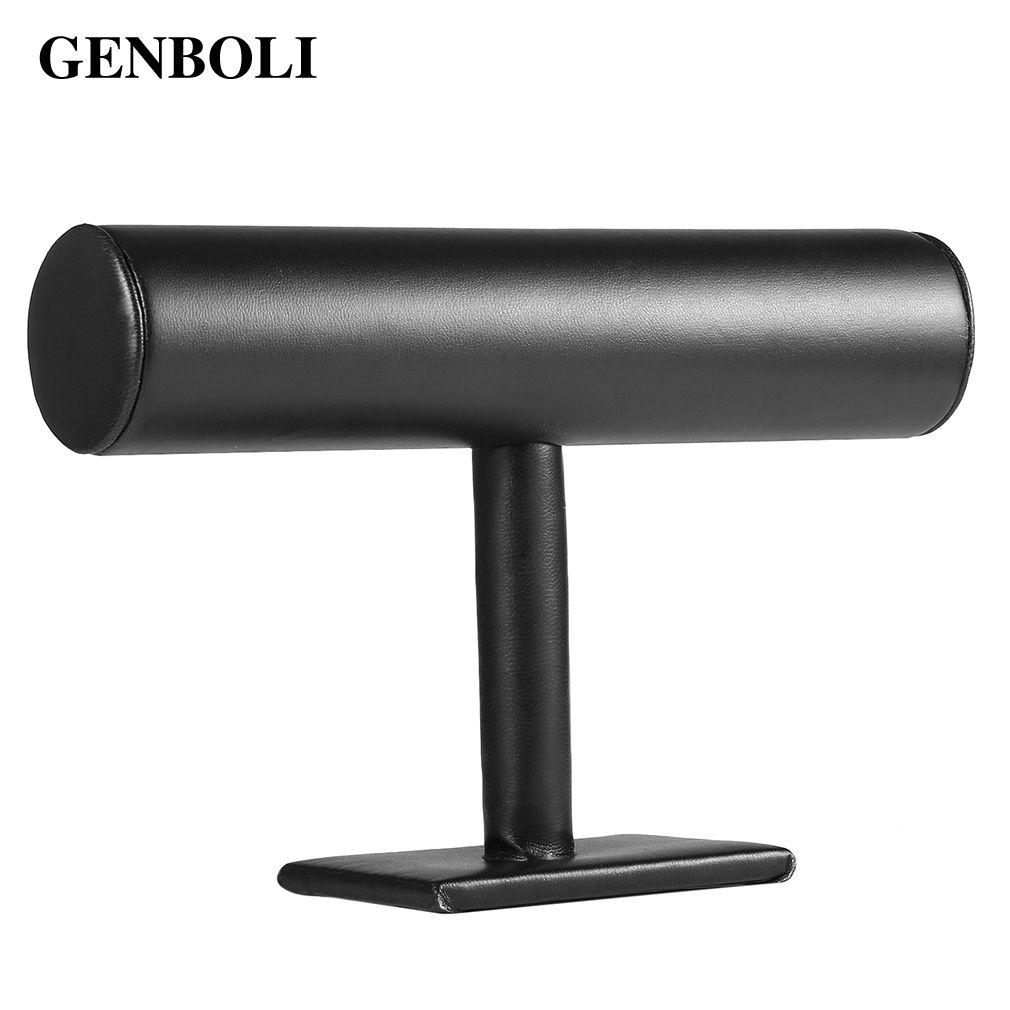 GENBOLI t-bar Rack Organizador Del Sostenedor Del Soporte Portátil Para Reloj de Pulsera Collar de La Joyería Embalaje Display Organizador Nuevo