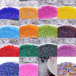 2mm 1500 pcs 17 couleurs AB Tchèque perles de Rocaille En Verre, cristal spacer perles Pour Vêtements décoration BL004-2X