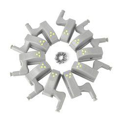 BORUiT 10 шт. Универсальный светодиодный светильник для шкафа датчик движения внутренняя шарнирная лампа для шкафа гардероб ночник для Дома ку...