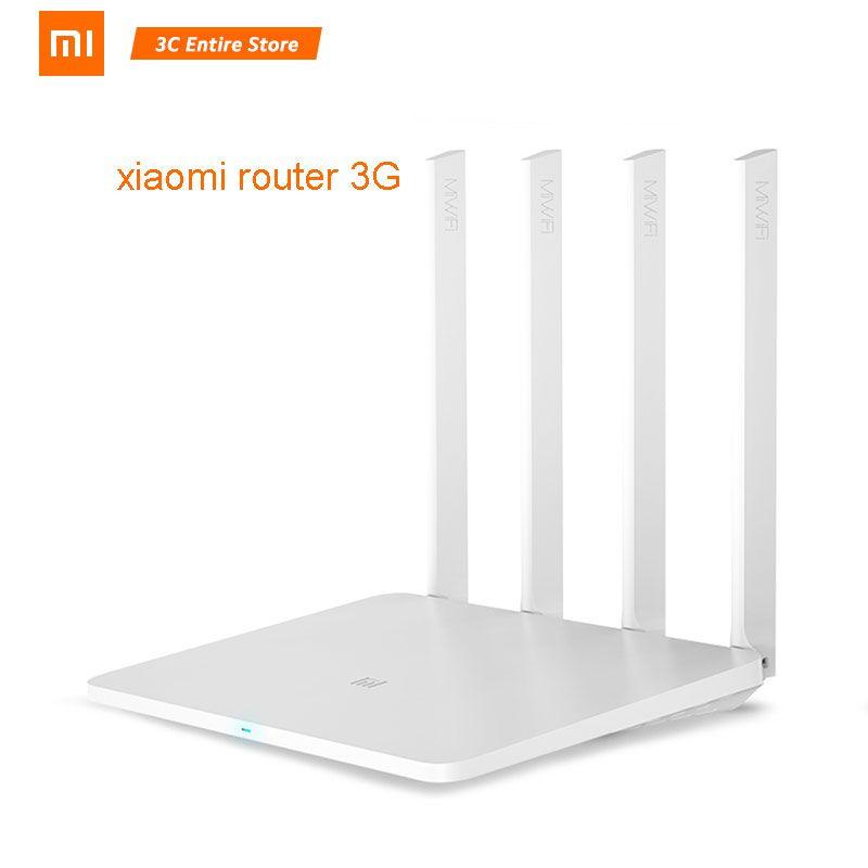 Origine Xiao mi mi Routeur 3G répéteur wi-fi 2.4G/5G 1167 Mbps 256 MB 802.11ac avec 4 antennes 128 MB Flash USB3.0 extension de réseau