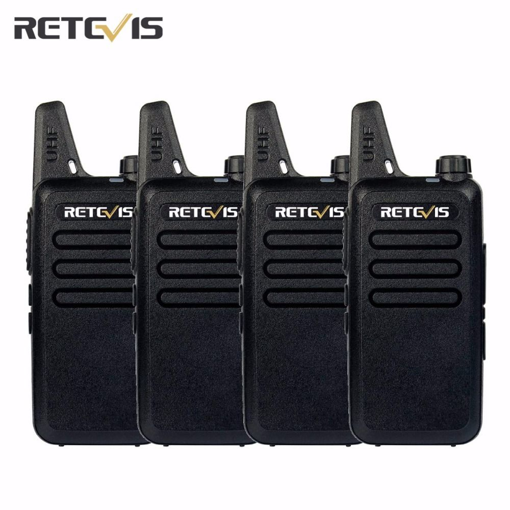 4pcs Dustproof Retevis RT22 Walkie Talkie Transceiver 2W 16CH UHF400-480MHz CTCSS/DCS VOX Scan Squelch Portable Amateur Radio RU