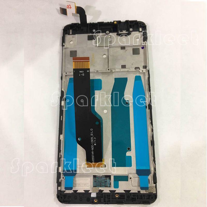 LCD Affichage avec Cadre + Écran Tactile Digitizer Assemblée Pour Xiaomi Redmi Note 4X hongmi Hausse Rouge Note 4x Téléphone Portable