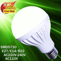 Lampu LED 2835 SMD 5730 110V 220V Lampu LED Putih Hangat Putih Umbi Lilin LED 12W 9W 7W 5W 3W Indoor Lampu Hias