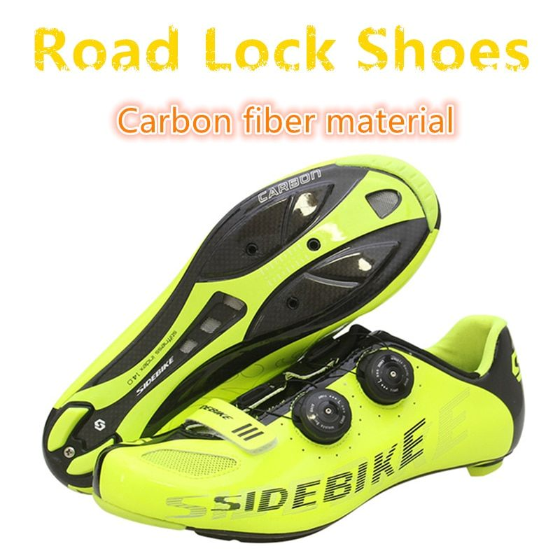 2018 NEW Professional race carbon fiber Road lock shoes ultra light 439G anti-skid wear high quality Riding Cheap bicycle shoes