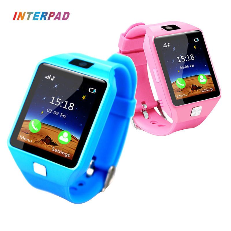 Interpad Smart Watch DZ09 Support SIM TF Cards For Android iOS Phone Children Camera Smart Baby Watch For Kid <font><b>Safe</b></font> Children Gift