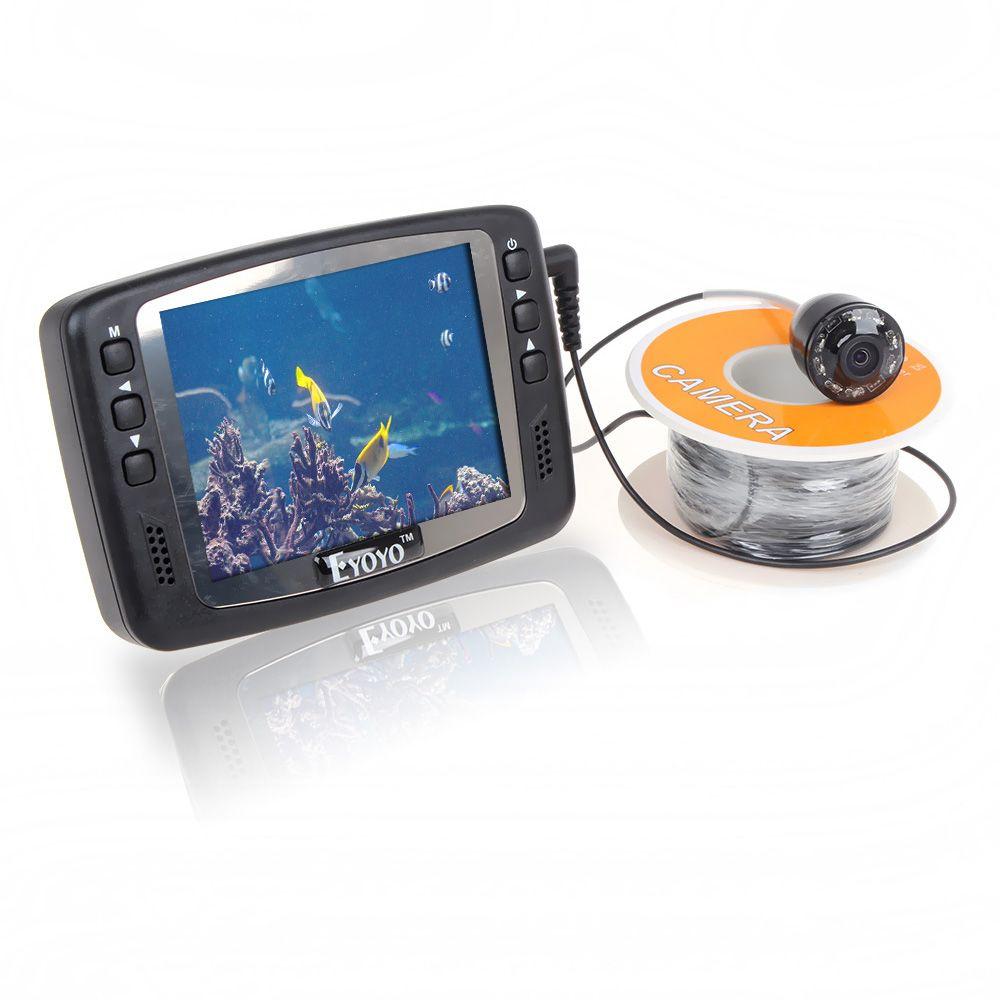 Freies Verschiffen! Eyoyo Original 1000TVL Unterwasser Video Ice Fishing Kamera Fisch Finder 15 mt Kabel 3,5 ''Farbe LCD-Monitor