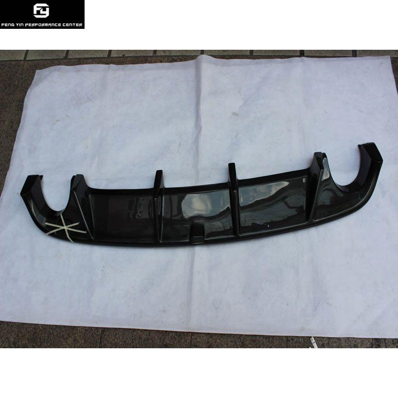 Golf 6 GTI Carbon Fiber Rear Bumper Diffuser Lip Bilateral single out For VW Golf6 MK6 GTI bumper 2010-2013