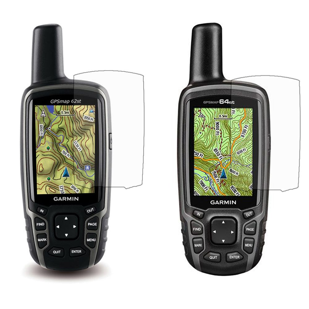 3x  Clear LCD Screen Protector Cover Film Skin for Garmin Astro 320 220 GPSMap 62 64 62st 64st 62s 64s