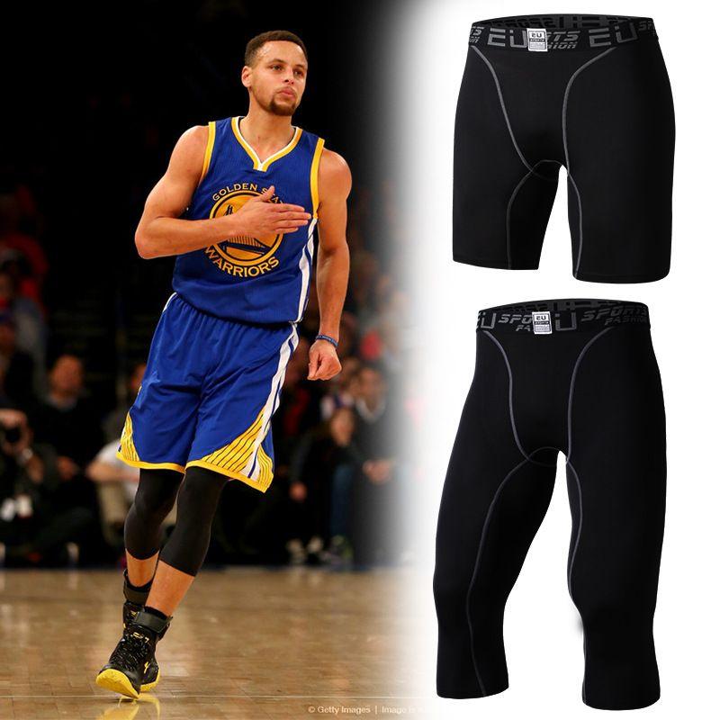 Mens sport pantorrilla pantalones de baloncesto pantalones deportivos gimnasio medias de compresión correr chándal elástica pantalones de jogging