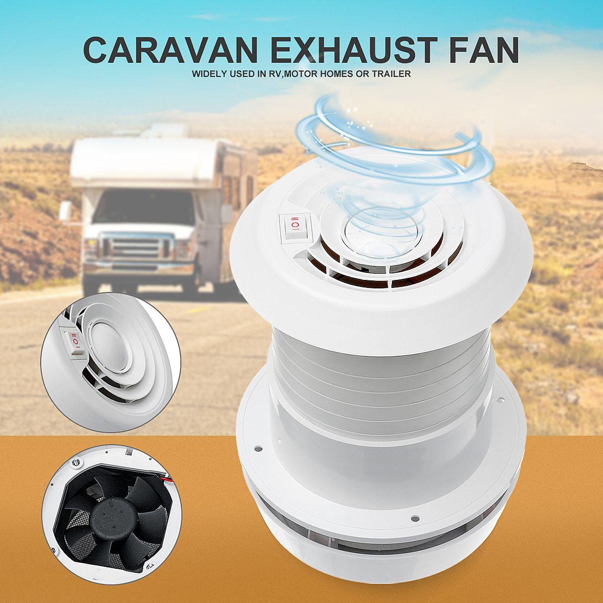WARMTOO 1Pcs 12V RV Energy-saving Motorhome Roof Vent Ventilation Cooling Exhaust Fan Noiseless For Homes Trailer Travel Motor