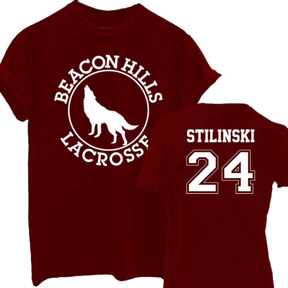 BEACON HILLS LACROSSE T-shirt Camiseta Teen Wolf Stiles Stilinski 24 Lahey 14 Summer Top Tee Shirts For Men Women T Shirt
