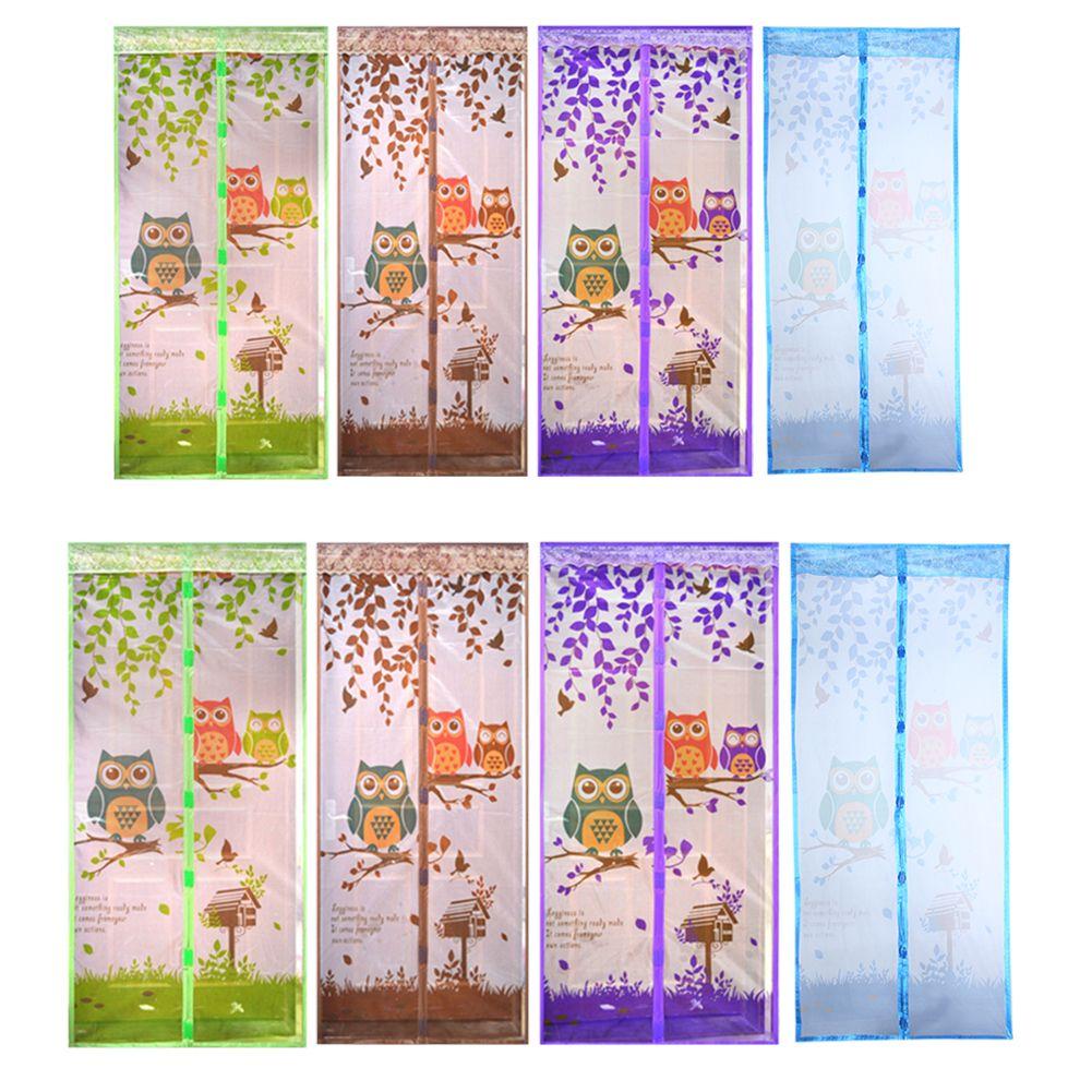 4 Color Anti Mosquito Magnética Cortina de Tul Cortina de Ducha Automática cierre de La Puerta de Pantalla Del Estilo Del Verano de Malla Neto 90/100x210 CM