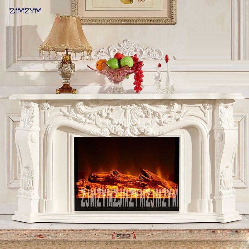 8080 elektrische Kamin Wohnzimmer Dekoration Heizung Kamin W148cm Holz Regal Einsatz Optischen Einsatz EINE LED Flamme Künstliche