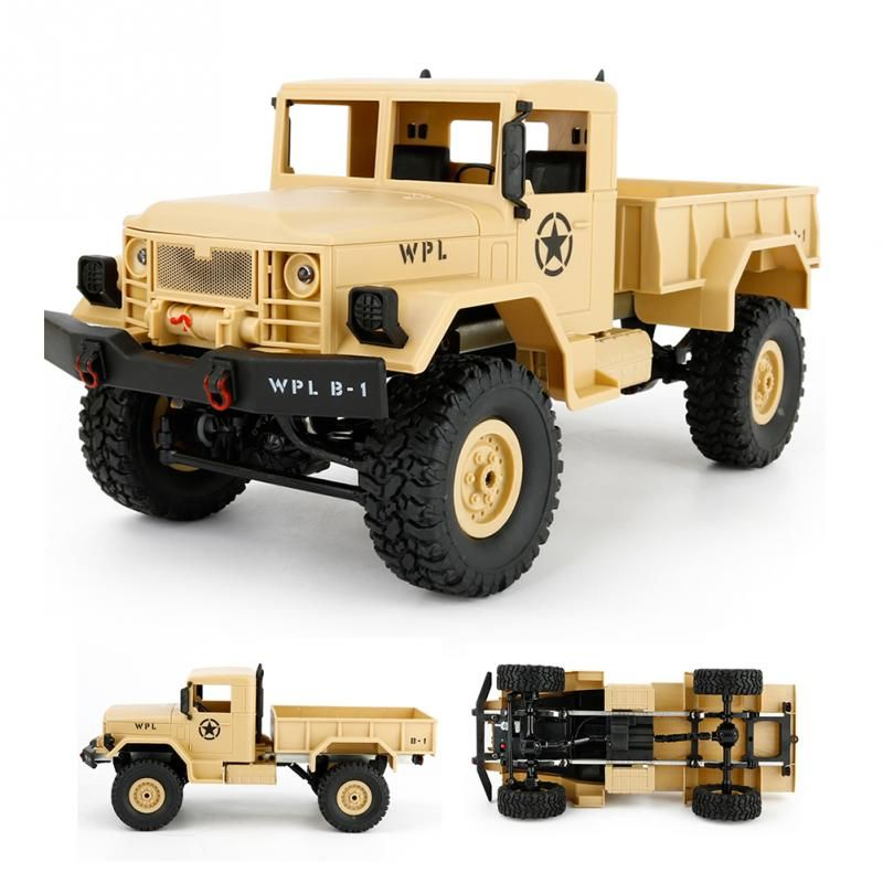 For WPL B-1 1:16 DIY Military Four-wheel Drive Off-road Remote Control Climbing Car Model