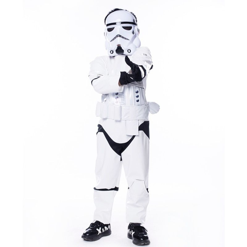 New Child Boy Deluxe Star Wars The Force Awakens Storm Troopers Cosplay Fancy Dress Kids Halloween Carnival Party Costume