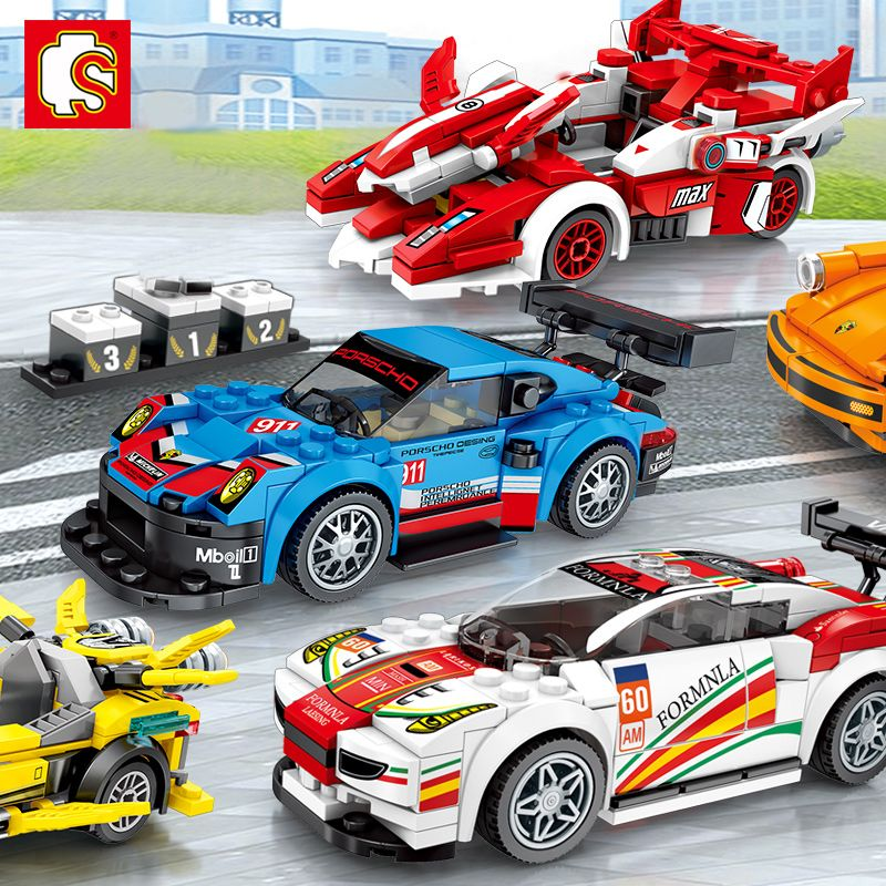 New City Super Racers Model Block Toys Racing Car Model Bricks Blocks DIY Bricks Blocks Kids Toys Set Toys For Chlidren Gift