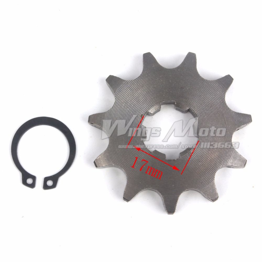 Wingsmoto Front Sprocket 428-11T 17mm 428 Size 11 Teeth Sprocket for Motorcycle ATV Dirtbike