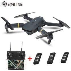 Eachine E58 Wifi FPV dengan Sudut Lebar HD Kamera Tinggi Tahan Mode Lipat ARM RC Quadcopter RTF Drone Vs Visuo XS809HW Brica H37