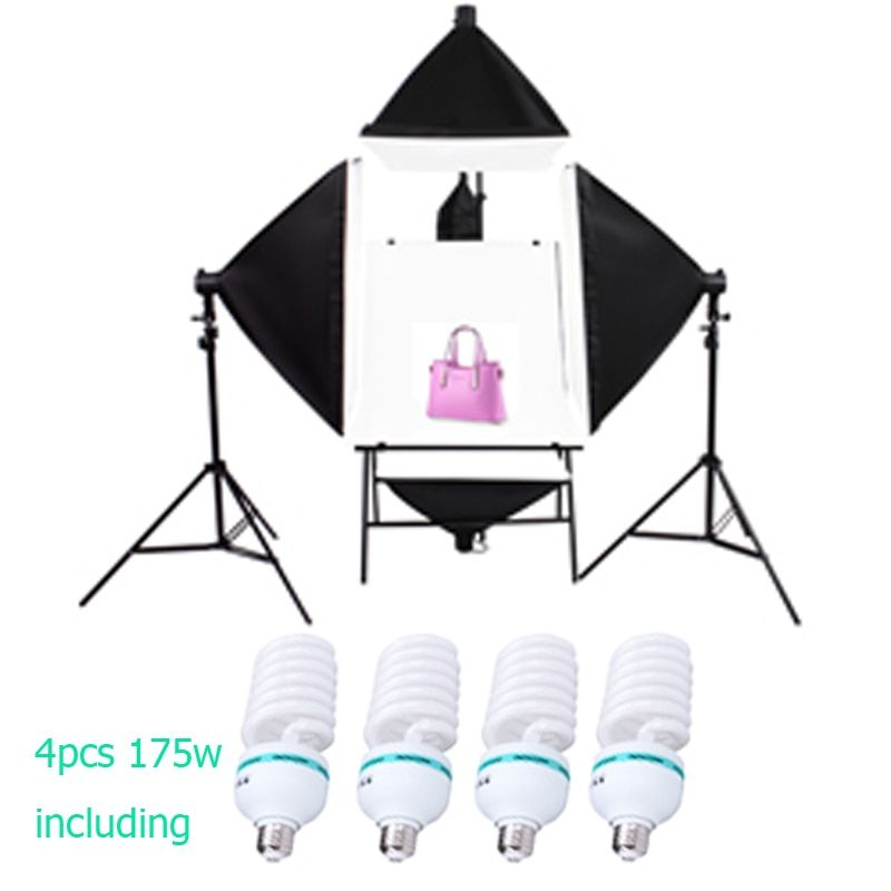 SHIP FROM RUSSIAN 4PCS 175W BULBSphoto stuido photography set photo table single lamp set station photographic equipment
