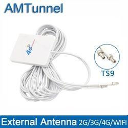 4G LTE antena Pannel TS9 conector antena wifi 4g antena para Huawei 3G 4G LTE Router módem Antena 3 metros alambre o router ZTE