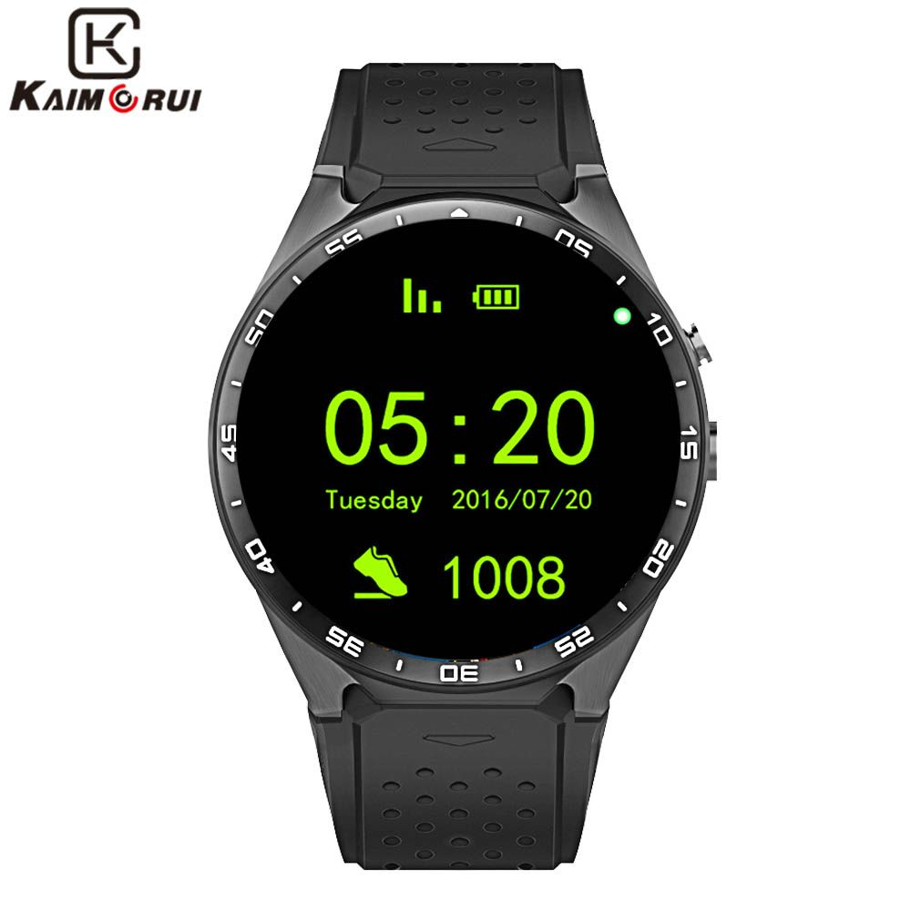 Kaimorui <font><b>KW88</b></font> Smart Watch Android 5.1 IOS 1.39 IPS OLED Screen 512MB+4GB Smartwatch Support SIM Card GPS WiFi Call Reminder