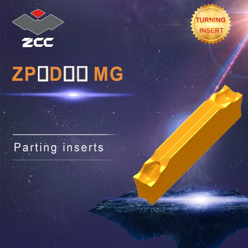 CNC tools lathe inserts 10pcs/lot ZP-D-MG ZPED ZPFD ZPGD coated cemented carbide turning inserts steel stainless steel parting