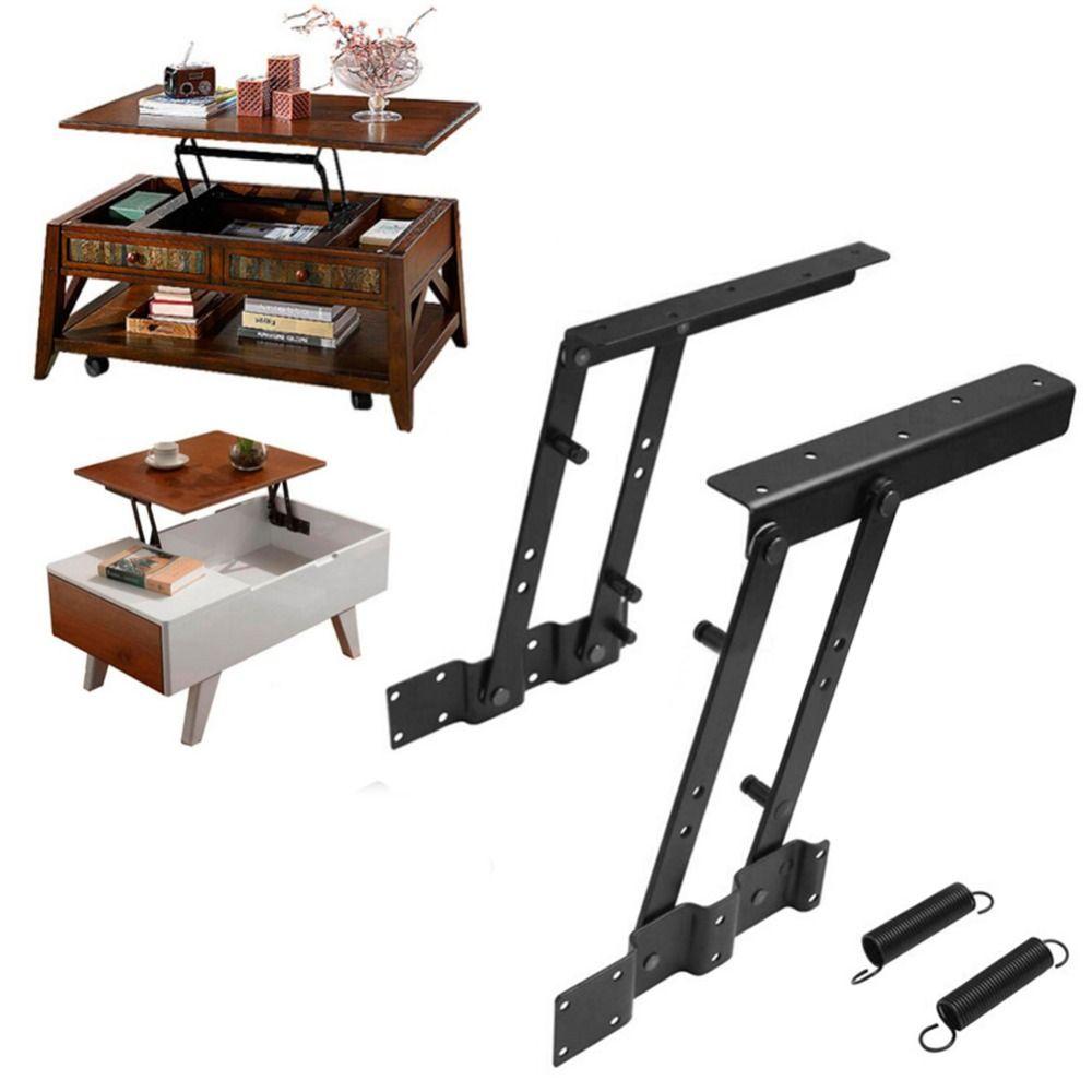 1Pair Multi-functional Lift Up Top Coffee Table Lifting Frame Mechanism Spring Hinge Hardware