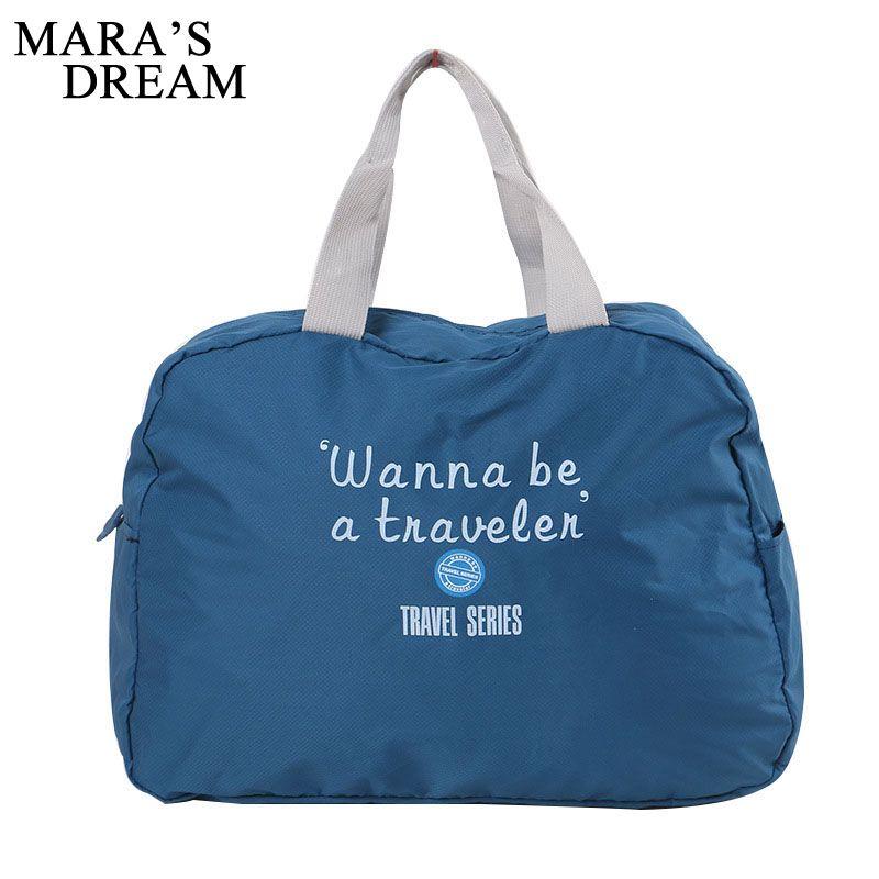 Mara's Dream 2017 Fashion Travel Bag Large Capacity Women Polyester Folding Bags Luggage Duffle Bag Waterproof Journey Handbags