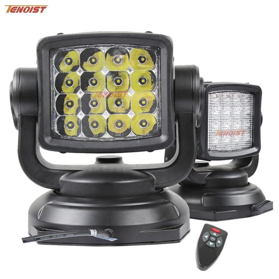 Newest One PCS 80W 360 Degrees Rotable LED Searching Hunting Light With Magnetic Base For Seaboat SUV Car 12V 24V