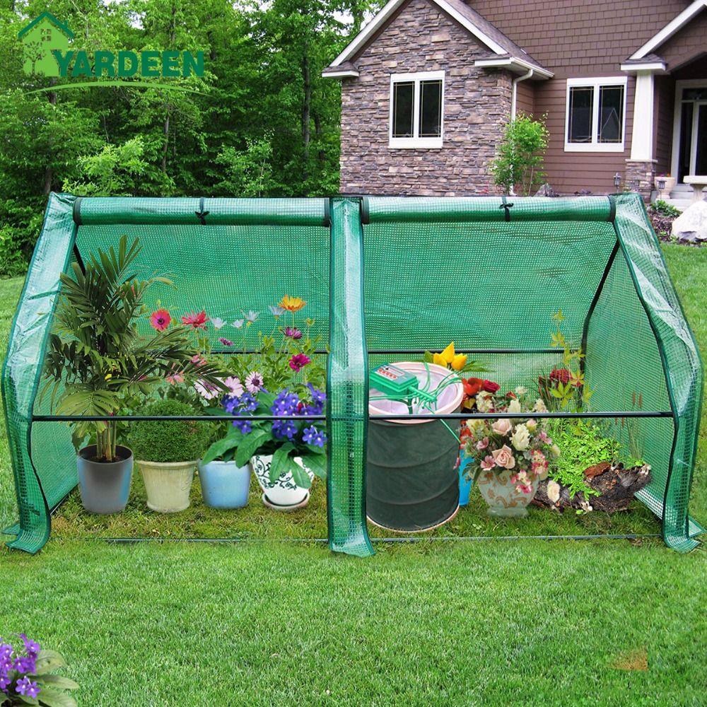 Yardeen OCALA Portable Backyard Greenhouse 2 Zipper Doors Flower Garden 71