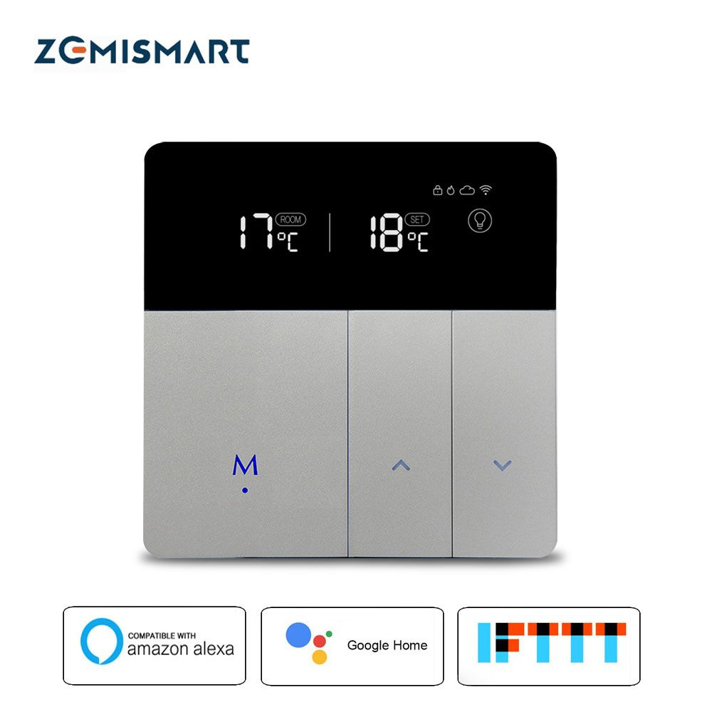 Boiler Water Radiant Floor Heating Thermostat Compatible with Alexa Google Home WIFI Control Boiler Temperature Controller
