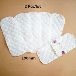 2 Pcs/lot Mince Réutilisable Menstruel Tissu Sanitaires Coussinets Serviette Lavable Étanche Culotte Doublures Femmes 19 cm 2018 Nouveau