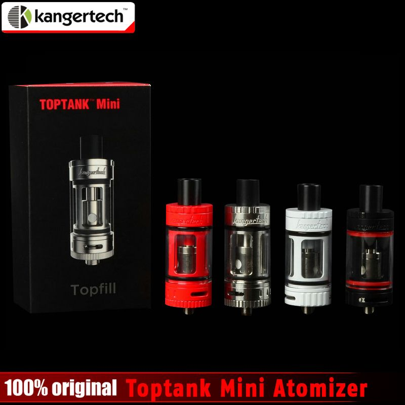 100% Original Kangertech Toptank Mini Atomizer 4.0ml Top Refilling Sub Ohm Tank with Delrin Drip Tip 4 colors with 510 thread