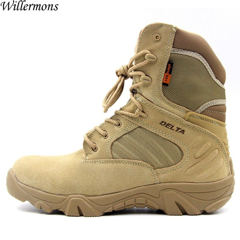 Hiking Climbing Shoes DELTA Professional Waterproof Hiking Boots <font><b>Tactical</b></font> Boots Outdoor Mountain Climbing Sports Sneakers