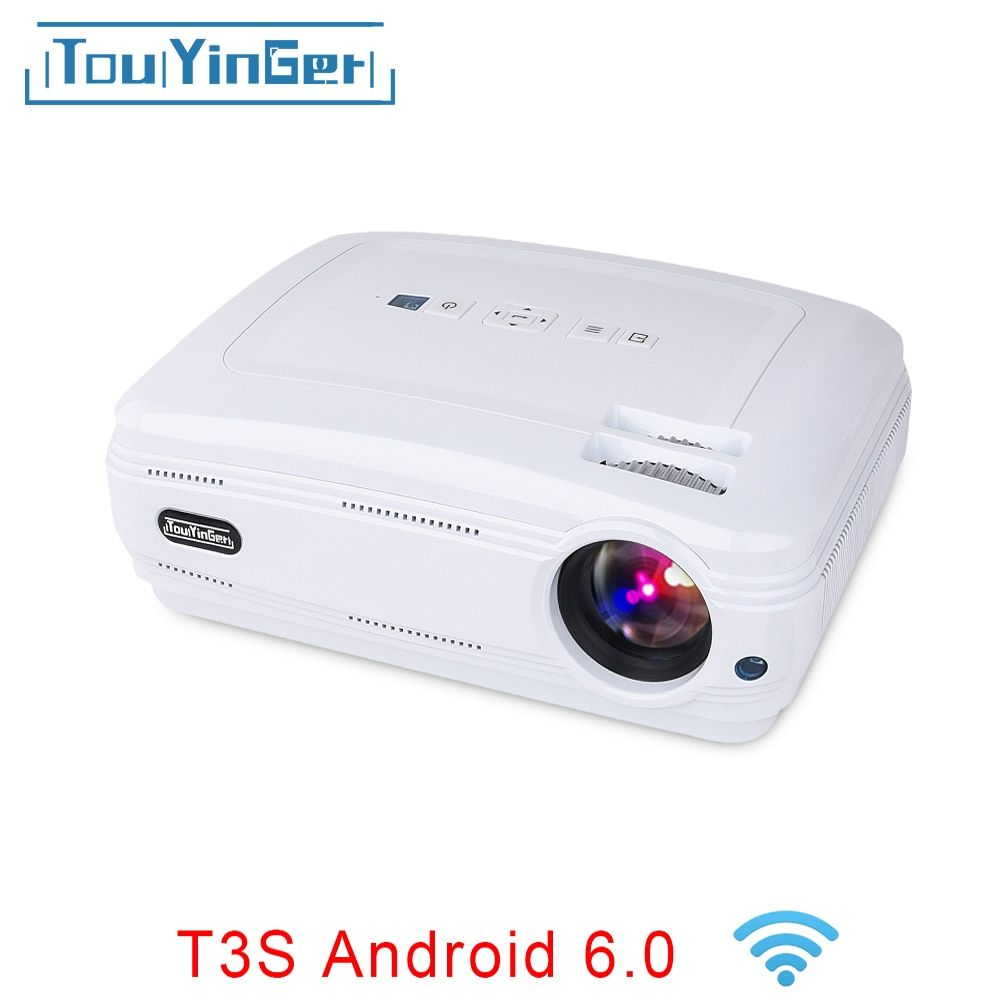 Touyinger T3 LCD Projector 3500 Lumens Android 6.0 Bluetooth Optional Beamer 1080P LED TV Video Home Theater Overhead Proyector