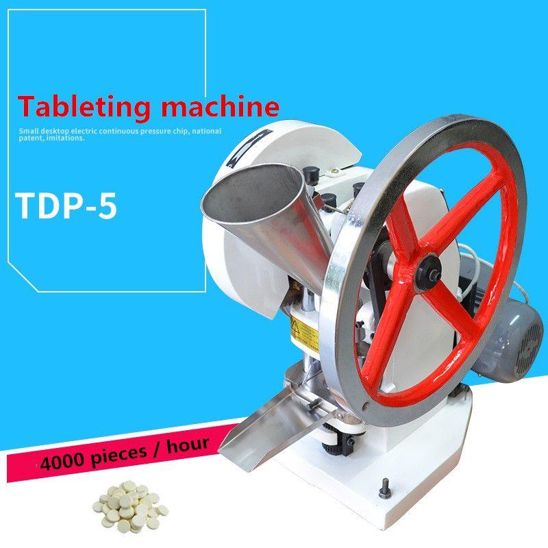 Tablet Presse Maschine/TDP-5 typ, 50KN Druck Drücken Härter Pille Maker 110 v 220 v motor Einzigen Schlag Tablette, Der Maschine