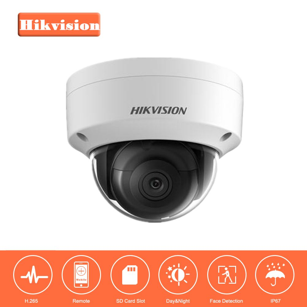 Hikvision Security Camera 5MP PoE Outdoor Indoor Waterproof Dome IP Camera DS-2CD2155FWD-IS CCTV System Built-in SD card Slot