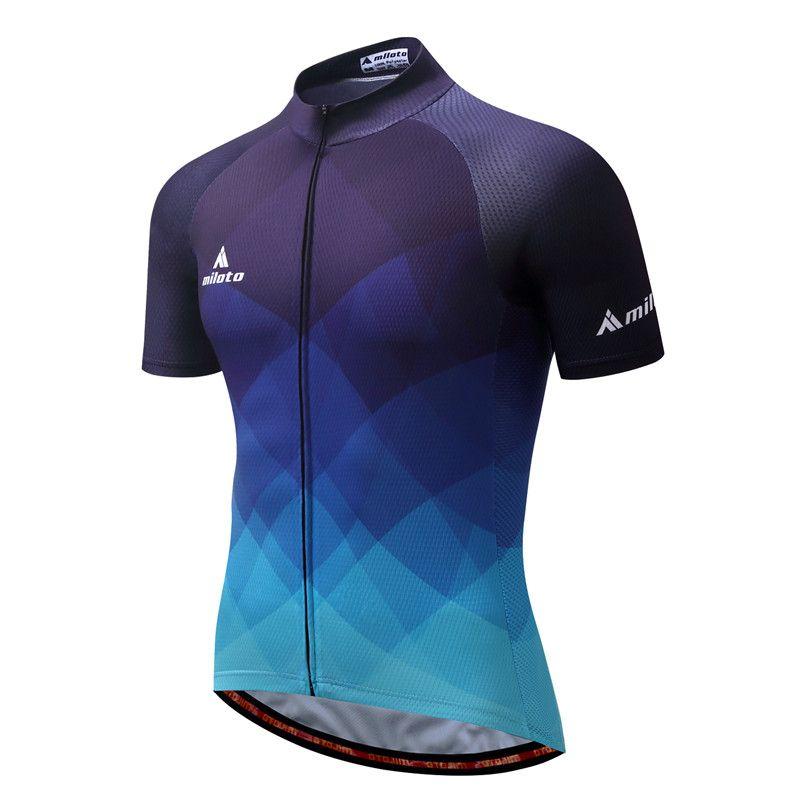 MILOTO 2018 Cycling Jersey Tops Summer Racing Cycling Clothing Ropa Ciclismo Short Sleeve mtb <font><b>Bike</b></font> Jersey Shirt Maillot Ciclismo