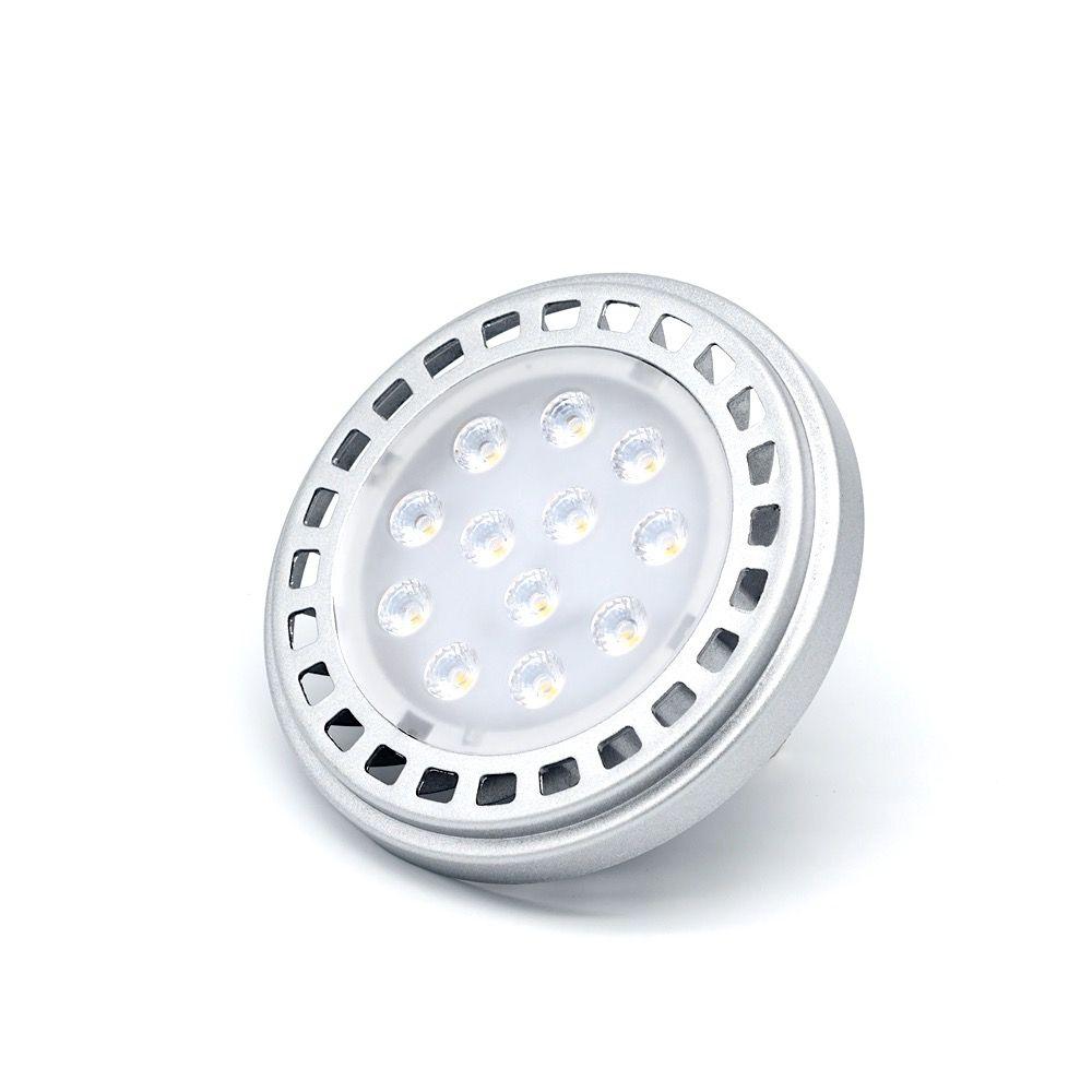 Livraison gratuite Ar111 ampoule LED G53 30 degrés 15 w 12vdc CRI80 3000 K blanc chaud SMD LED spots