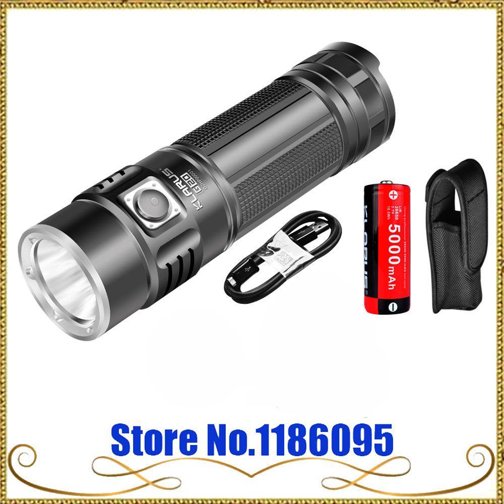 2016 KLARUS G20 CREE XHP70 N4 LED-Licht Taktische Taschenlampe USB Aufladbare Taschenlampe 3000 Lumen Dual Schalter Mit 26650 Batterie