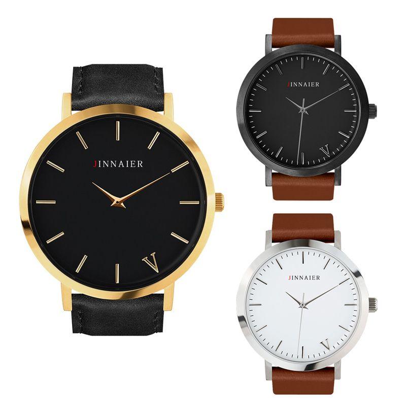 2016 Top marca de lujo hombres reloj de cuarzo masculino moda casual cuero relojes deportivos Relogio