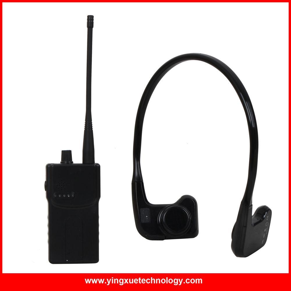 NEUE Ankunft Knochenleitung Empfänger Drahtlose System mit 1 WalkieTalkie Sender + Empfänger 1 + 1 Mikrofon