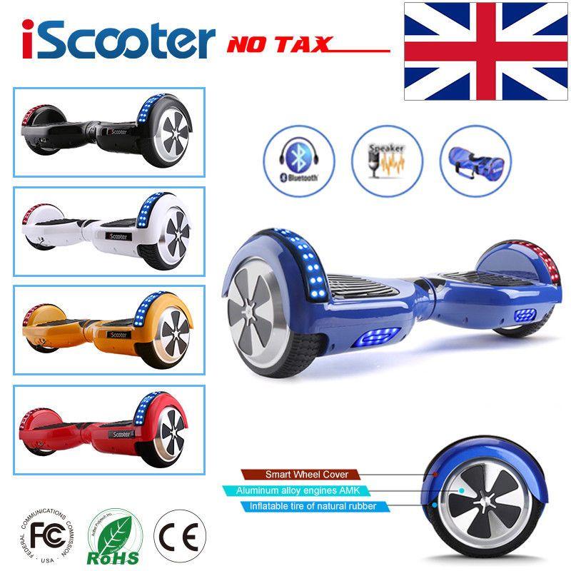 IScooter Hoverboard 6,5 zoll Bluetooth Lautsprecher Roller Skateboard selbstabgleich elektrische Hoverboard Erwachsenen Kind UL 2272 Hoverboard