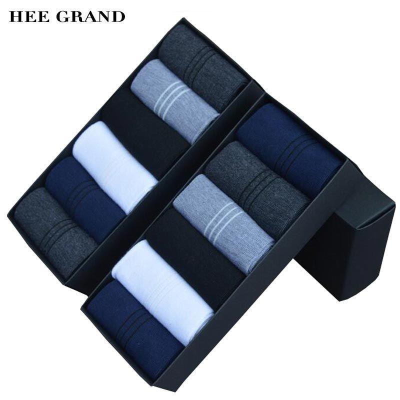 Hee grand 2017 nueva llegada hombres de la manera material de algodón calcetín respirable cómodo primavera otoño calcetines 6 pares por juego nwm306