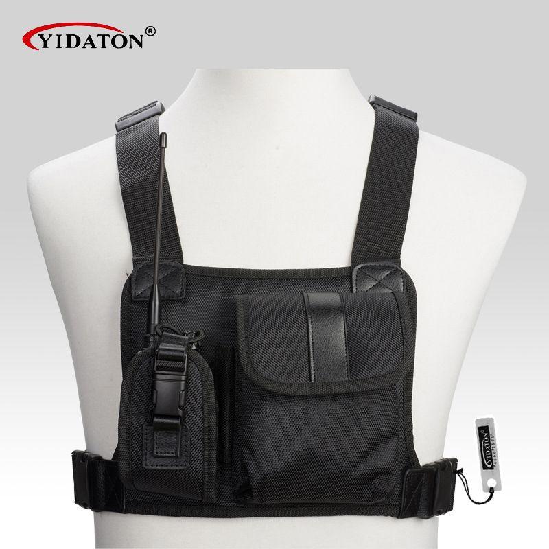 Neue walkie talkie brusttasche pack rucksack hörer radio Halter Tasche für GP340 CP040 BF UV-5R 888 S zwei funkgeräte tragetasche
