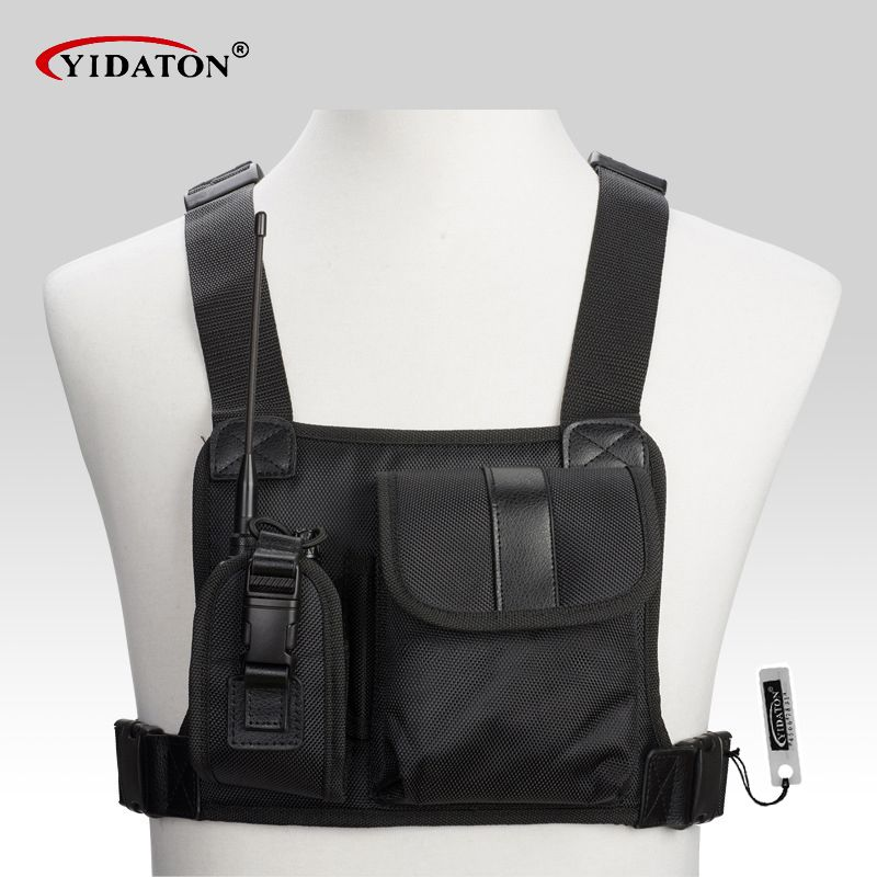 New walkie <font><b>talkie</b></font> chest pocket pack backpack handset radio Holder Bag for GP340 CP040 BF UV-5R 888S two way radios carry case